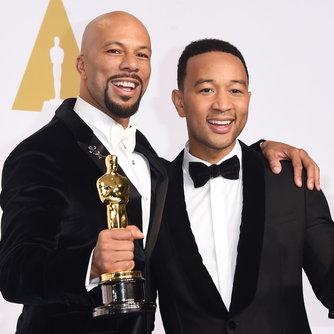 "John Legend and Common win Oscar for ""Glory"""
