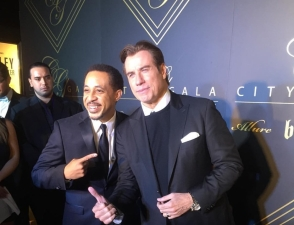 Dale with John Travolta at City Gala benefitting Dale's IAPF